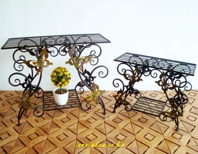 JY38594 나비장식테이블 화분진열대