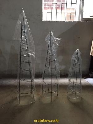 오벨리스크 90.120.150cm 원형 3종세트/넝쿨식물지지대/야외용 철물